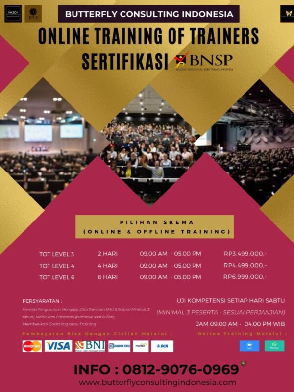 ONLINE NATIONAL CERTIFICATION TRAINING OF TRAINERS BNSP LICENSED LEVEL 4